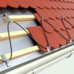 Кабельный обогрев кровли - система антилед на крыше 2